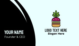 Beet Burger Vegan Restaurant  Business Card