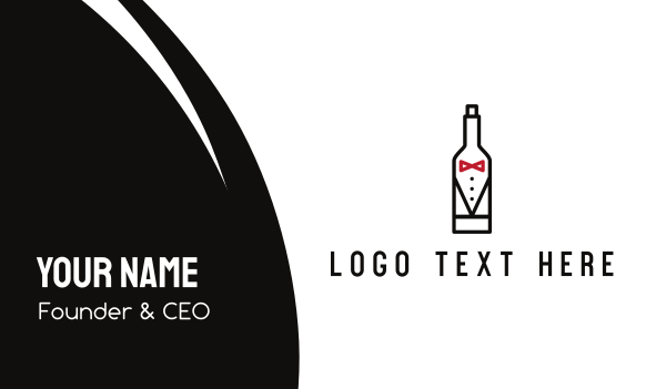 red bottle - Drink Suit Business card horizontal design