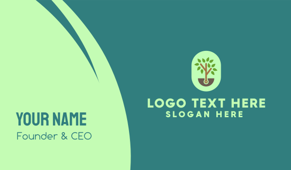 harvesting - Small Tree Business card horizontal design