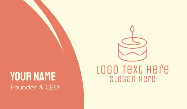 birthday cake - Minimal Birthday Cake  Business card horizontal design