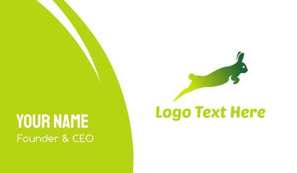 hare - Green Rabbit Leap Business card horizontal design