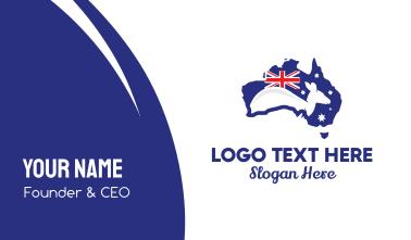 Australian Kangaroo Business Card