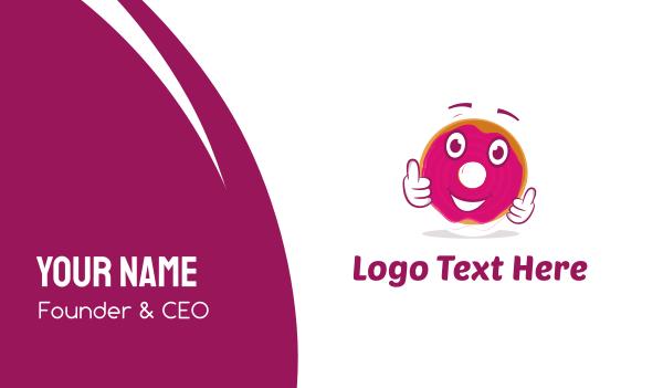 kids party - Donut Cartoon Business card horizontal design