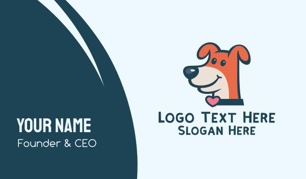 pet lover - Lovely Dog Veterinary Business card horizontal design