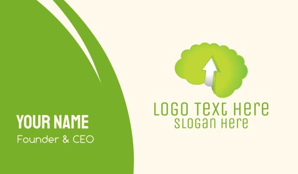 up - Green Brain Business card horizontal design
