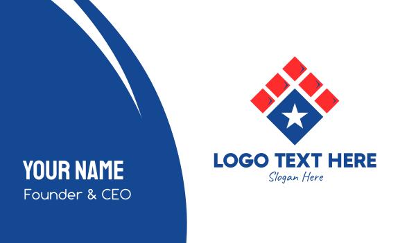immigration - Patriotic Star Tile Business card horizontal design
