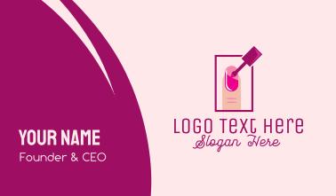 Pink Nail Polish Manicure Business Card