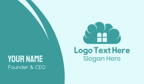 place - Cloud Home Business card horizontal design