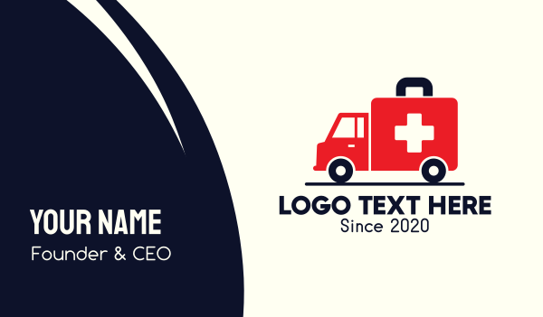 emergency kit - Medical Emergency Ambulance Business card horizontal design