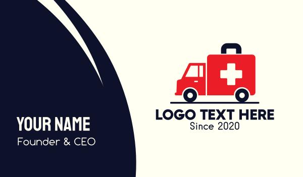 paramedic - Medical Emergency Ambulance Business card horizontal design