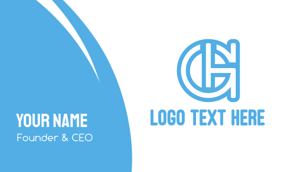 tax advisor - Blue Outline AGH Business card horizontal design