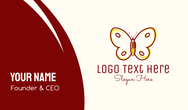 delicate - Eco Friendly Butterfly Business card horizontal design