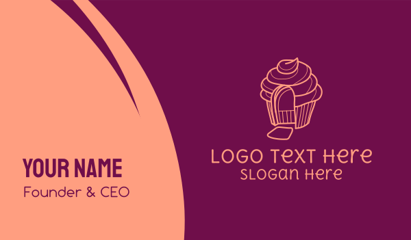muffin - Cupcake House Business card horizontal design