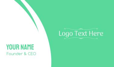 Minimalist Ornamental Wordmark Business Card