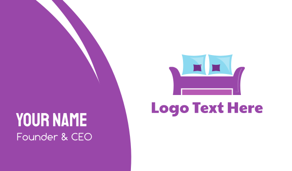 Purple Furniture Business Card