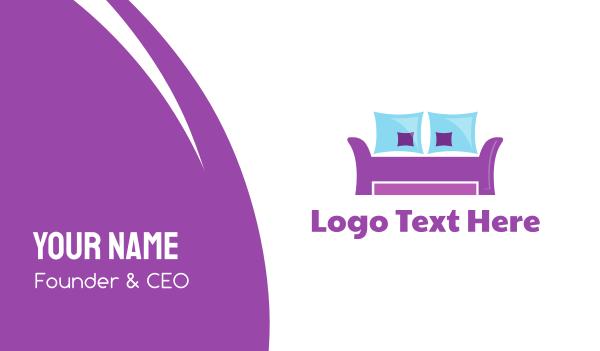 living room - Purple Furniture Business card horizontal design