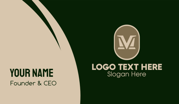 mv - Elegant VM  Business card horizontal design