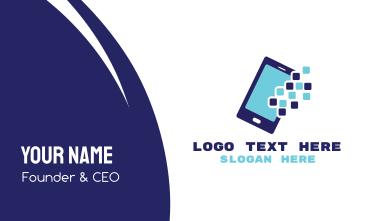 Pixel Mobile App Business Card