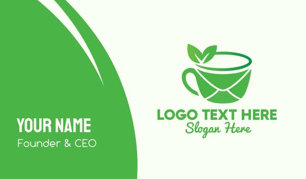 documents - Tea Mail Cafe Business card horizontal design