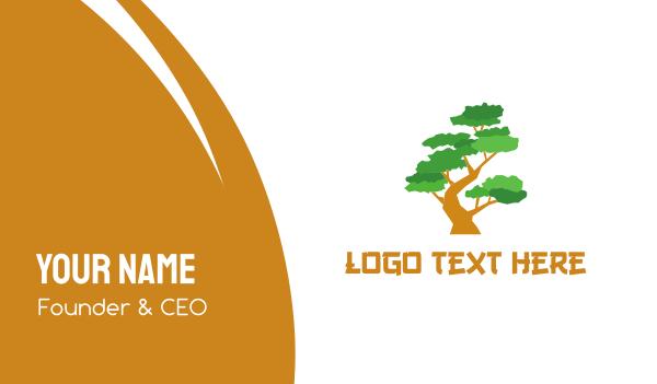 shanghai - Bonsai Tree Business card horizontal design