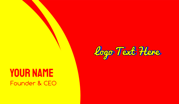 pop art - Bright Playful Script Wordmark Business card horizontal design