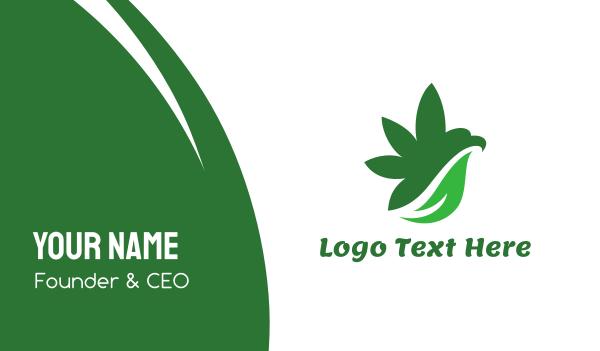 prohibited - Cannabis Bird Wing Business card horizontal design
