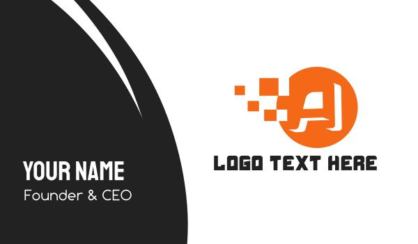 design agency - A Pixel Circle Business card horizontal design