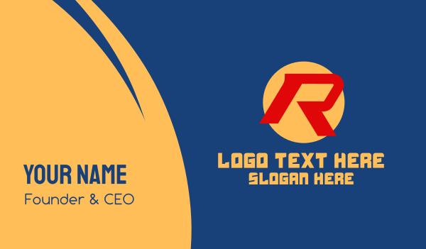 comics - Modern Letter R  Business card horizontal design