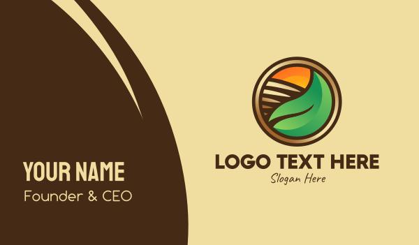 sunlight - Leaf Farm Agriculture Business card horizontal design