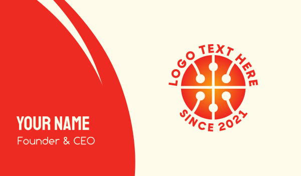 mvp - Modern Basketball  Business card horizontal design
