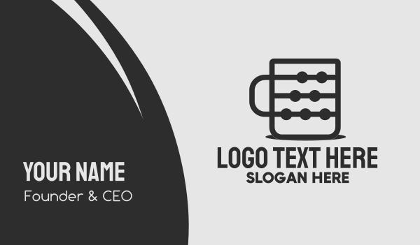 brewed - Coffee Tech Cup Business card horizontal design