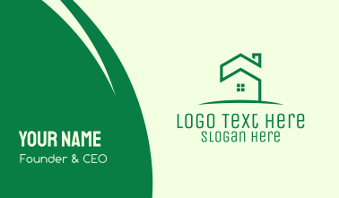 Green Eco House Business Card