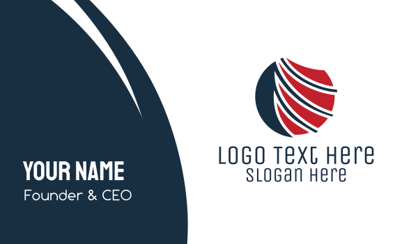 shipping - Global Wing Business card horizontal design