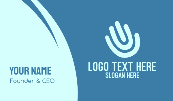 finger - Hand Print Business card horizontal design