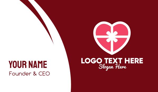matchmaking app - Romantic Valentine Gift  Business card horizontal design