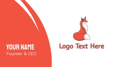 Cute Red Fox Business Card