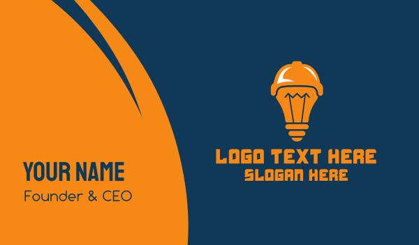baseball - Sports Idea Light Bulb Business card horizontal design