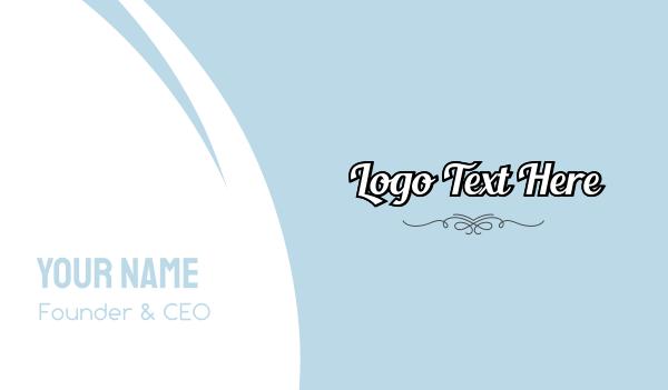 beauty vlogger - Retro Script Wordmark Business card horizontal design