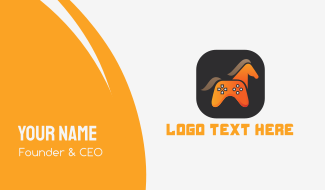 Horse Game Controller Business Card