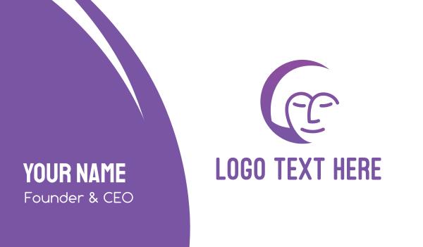 facial care - Relaxing Woman Business card horizontal design