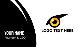 Yellow Bird Eye Business Card