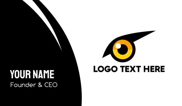 black bird - Yellow Bird Eye Business card horizontal design