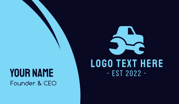 wrench - Wrench Truck Repair Business card horizontal design