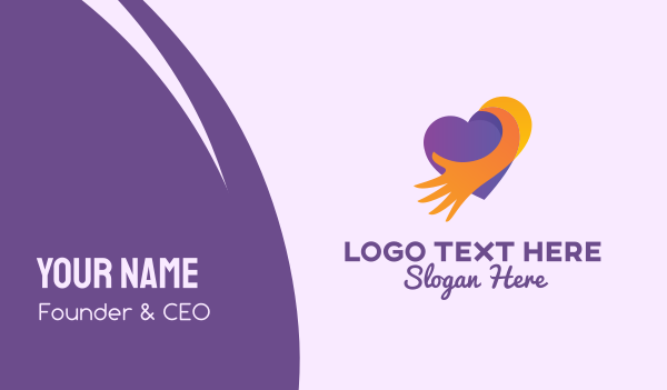 caring - Caring Heart Foundation Business card horizontal design