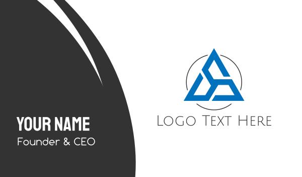 turbine - Triangular Turbine Business card horizontal design