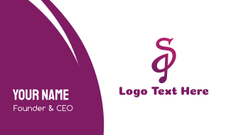 Purple S Note Business Card