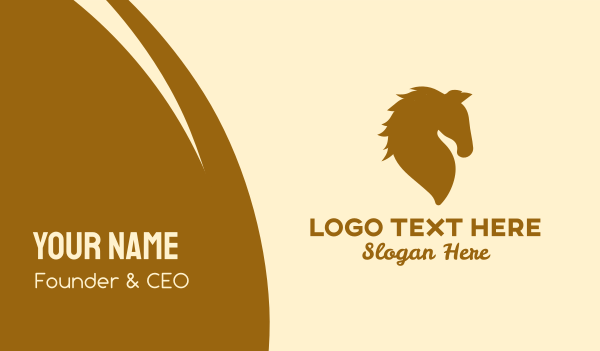press - Golden Horse Business card horizontal design