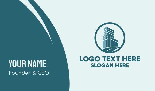 freeway - City Office Property Circle Business card horizontal design