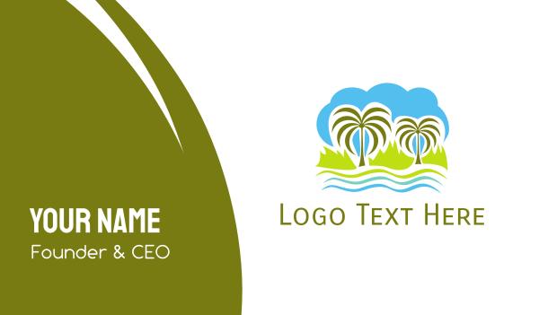 shore - Tropical Oasis Business card horizontal design