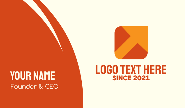 logistic services - Orange Package Delivery Arrow Business card horizontal design